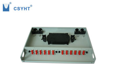 1U Height Fiber Optic Termination Panel 24 Fibers Standard Size Reasonable Structure