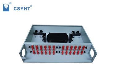 Cold Roll Steel Fiber Optic Distribution Panel 48 Port Fixed Type 412x295x88mm