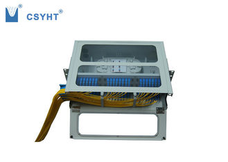 Fixed Type 72 Port Fiber Optic Patch Panel , Fiber Patch Panel Enclosure With Transparent Door