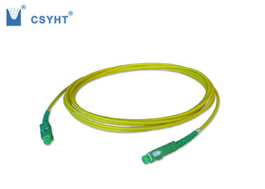 China SC APC Armoured Fiber Optic Patch Cord , Multimode / Single Mode Fiber Patch Cables supplier