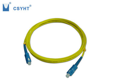 SC UPC Fiber Optic Cable Patch Cord Single Mode High Dense Connection