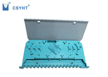 China Blue Color Fiber Optic Tray 16 Port Plastic Grey White Cover For Loading SC Adapter supplier