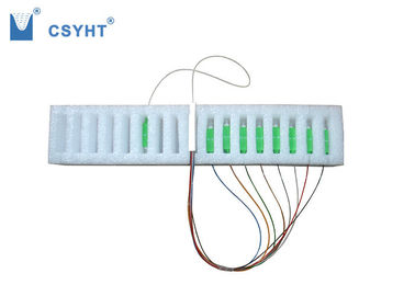 FTTx Systems Fiber Optic PLC Splitter Steel Tube Type Input And Output 0.9mm 1M Fiber