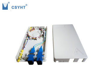 China 4 fiber plastic FTTH box for indoor wall mounted in FTTX project supplier