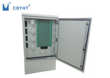Floor Standing Outdoor Fiber Distribution Cabinet High Anti - Erosion Performance