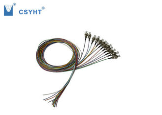 12 Color Fiber Optic Pigtail FC SC LC ST Connector Simplex 1.5 Meter Length